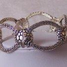 Silver P Bangle Bracelet