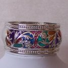 Multicolor Blue Pink Green Hinge Bangle Bracelet