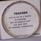 Teachers Prayer Inspirational Bangle Bracelet