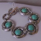 Blue Turquoise Western Antique Style Braclet