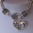 Heart Love Valentines Day Charm Bracelet