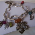 Fall Harvest Leaf Leaves Charm Bracelet