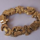 First Aid Hospice 911 Emergency Nurse Amubulance Medical Antique Look Gold Tone Bracelet