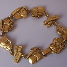 First Aid Band Aid Nurse Medical Antique Look Gold Tone Bracelet