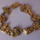 First Aid Band Aid Nurse Medical Scissors Antique Look Gold Tone Bracelet