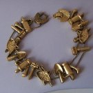 Gardner Water Can Garden Lover Love Antique Look Gold Tone Bracelet
