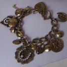 Antique Style GP Alexander the Great French Heart Love Key Horseshoe Charm Bracelet