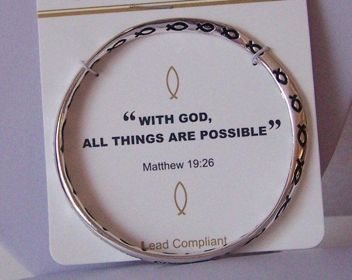 RELIGIOUS MATTHEW 19:26 ALL THINGS POSSIBLE CHRISTIAN BRACELET