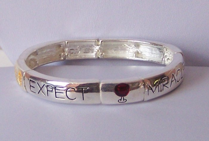 Religious Christian Expect Miracles Bangle Bracelet