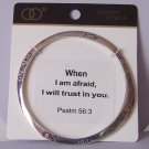 Religious Christian Psalm Psalms 56:3 When I Am Afraid Will Trust You Bracelet