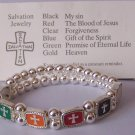 Religious Christian Salvation Cross Bangle Bracelet