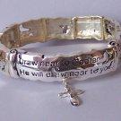 Religious Christian James 4:8 Draw Near to God Cross Bangle Bracelet