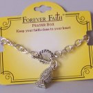 Religious Christian Jesus Locket Prayer Box Charm Bracelet