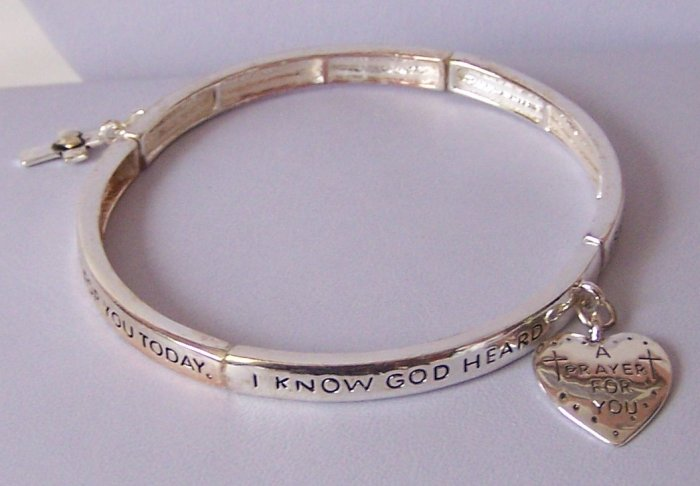 Religious Christian A Prayer For You Heart Love Charm Bracelet