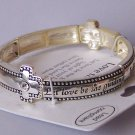 Religious Christian Serve the Lord Out of Love Bangle Bracelet