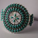 Western South Southwestern Turquoise Blue Bangle Bracelet