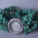 Blue Cowgirl Western Semiprecious Semi Precious Turquoise Watch