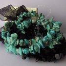 Western Semi Precious Semiprecious Black Blue Turquoise Natural Stone Bracelet