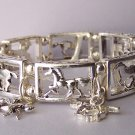 Pony Horse Mustang Western Filigree Charm Bangle Bracelet