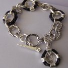 Black Braided Western Horseshoe Horse Shoe Bracelet