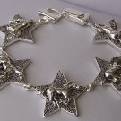 Rodeo Texas Star Lonestar Filigree Horse Pony Mustang Western Bracelet