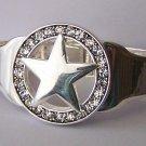 Clear Crystal Texas Star Lonestar Western Bangle Bracelet