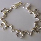 Horse Pony Mustang Silver Tone Western Bracelet