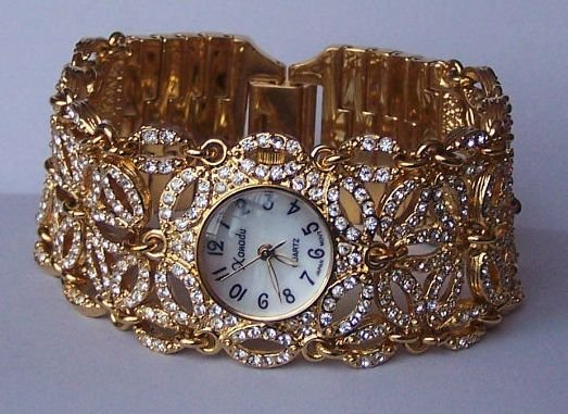 250 Clear Swarovski Crystal Bracelet Watch