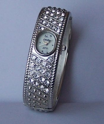Clear Crystal Bangle Bracelet Watch