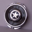 Black Texas Lonestar Star Western Compact Mirror