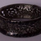 Black Filigree Animal Print Bangle Bracelet