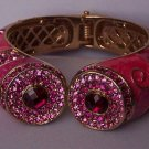 Hot Pink Magenta Fuchsia Swarovski Crystal Bangle Bracelet