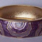 Purple Lavender Gold Tone Bangle Bracelet
