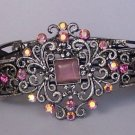 Purple Lavender AB Aurora Borealis Crystal Bangle Bracelet