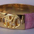 Pink New York Clear Crystal Bangle Bracelet