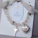 Bookmark Inspirational You Are The Key To My Heart Love Valentines Day Charm  Bracelet