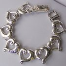 Silver Tone Love Heals Key To My Heart Valentines Day Bracelet