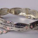 Pink This is a Miracle That Happens Heart Love Valentines Day Bracelet