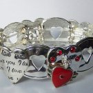 Heart I Love You Valentines Day Charm Bracelet