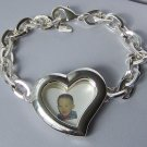 Photo Memory Family Picture Heart Love Valentines Day Bracelet