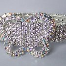AB Aurora Borealis Clear Crystal Bangle Butterfly Bracelet