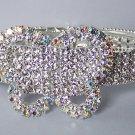 AB Aurora Borealis Clear Crystal Bangle Butterfly Bracelet