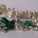 Green Frog Frogs Bullfrog Bracelet
