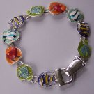 Multicolor Green Blue Tropical Fish Bracelet