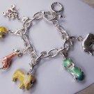Baby Shower Giraffe Zoo Carriage Elephant Teddy Bear Charm Bracelet