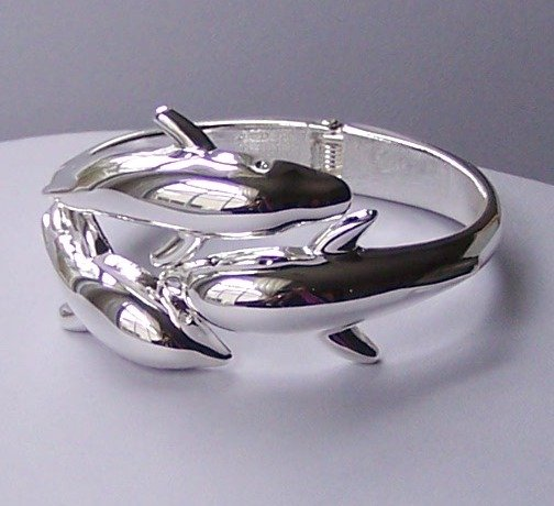 Dolphin Animal Lover Bangle Bracelet