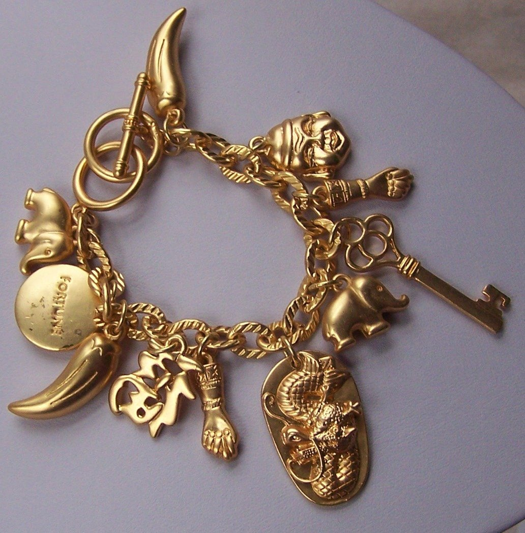 Good Luck Key Buddha Charm Bracelet