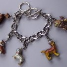 Brown Puppy Dog Animal Charm Bracelet