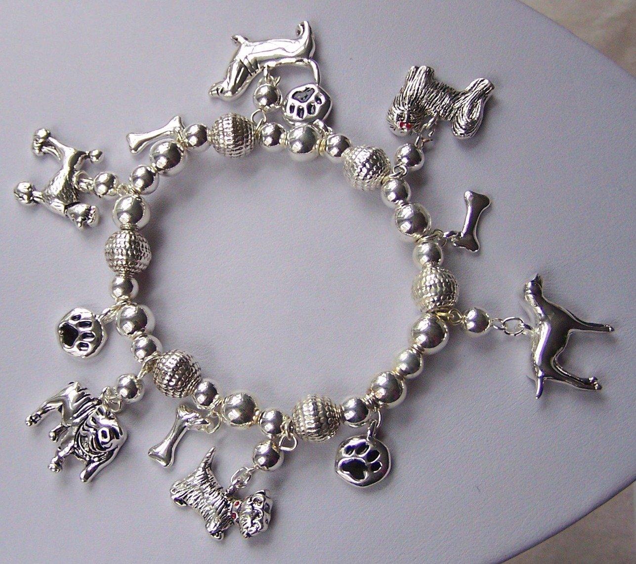 Puppy Dog Paws Animal Charm Bracelet