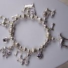 Puppy Dog Paws Animal Charm Bracelet